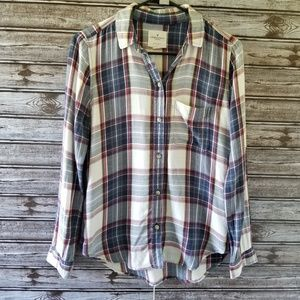 American Eagle Boyfriend Fit Button-down Top XS